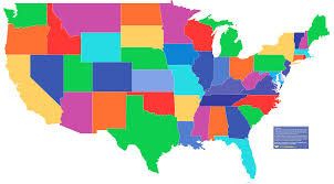 interactive color united states map united states blank map of visited us state usa within interactive