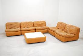 chambre modulable set de chambre modulable vintage en cuir cognac de dreipunkt