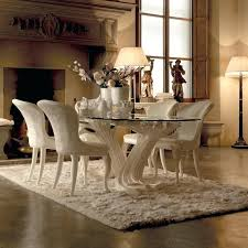 Round Glass Top Pedestal Table Exclusive Italian Pedestal Large Glass Dining Table Set 42 Round