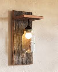 amazon com barn wood and mason jar light fixture handmade