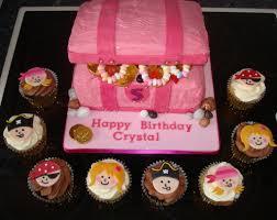 princess u0026 pirate cupcakes with pink treasure chest cake a photo