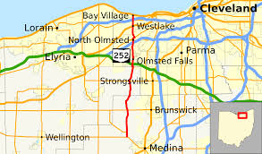 Map Of Cleveland Ohio by Ohio State Route 252 Wikipedia
