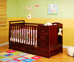 Changing Table Crib Combo Crib Dresser Changing Table Combo Best Classic Design Brown