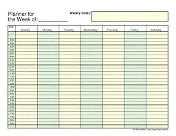 time schedule templates management weekly blank jpg letter tem