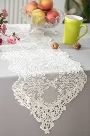 ivory lace table runner lace table runners ivory embroidered wedding embroidered table