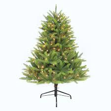 Unlit Artificial Christmas Trees Canada by 4 5 Ft Unlit Feel Real Downswept Douglas Fir Artificial Christmas