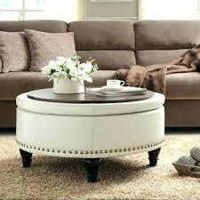 storage ottoman reversible top fancy ottoman with tray on top reversible round ottoman tray top