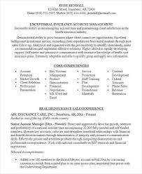 Key Competencies Resume Health Insurance Account Manager Resume 100 Images Account