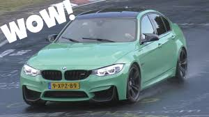 green bmw mint green bmw m3 f80 at the nürburgring youtube