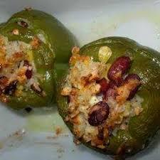 cuisiner poivrons verts recette poivrons verts farcis à la feta toutes les recettes allrecipes
