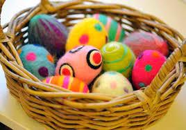 felt easter eggs easter egg felting workshops leith
