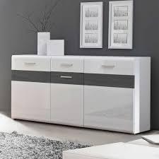 Schlafzimmer Kommode In Weiss Hochglanz Sideboard Hemorian In Weiß Hochglanz U0026 Weiß Pharao24 De