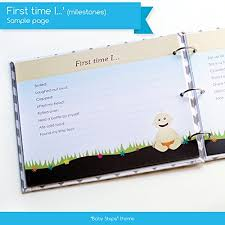 baby 1st year book baby steps book journals new baby year memory book for a