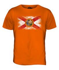 Florida State Flag Image Florida State Distressed Flag Mens T Shirt Top Floridian Shirt