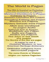 it s a pagan world