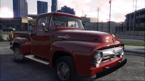 Vintage Ford Truck Exhaust - 56 ford f100 fh3 addon animated engine u0026 exhaust gta5 mods com