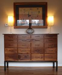 black walnut 20 drawer buffet cabinet custom furniture portland