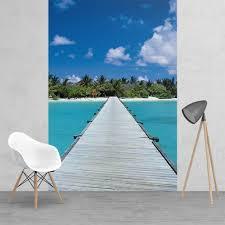 beach murals 1wall com look book paradise maldives dream jetty feature wall wallpaper mural 2 piece murals 158cm x 232cm