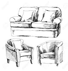 doodle of furniture royalty free cliparts vectors and stock
