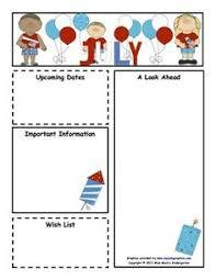 8 best images of kelly u0027s kindergarten newsletter templates july