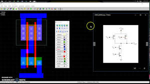 free cmos layout design software cmos nand using microwind youtube