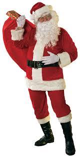 santa claus velour santa costume costume craze