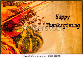 happy thanksgiving card autumn decorations text stock photo