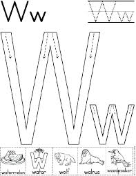 w worksheets for preschool free worksheets library download and