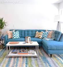 beau canapé d angle très beau canapé d angle bleu déco bleue