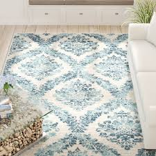 Faded Area Rug Beachcrest Home Delana Traditional Faded Blue Teal