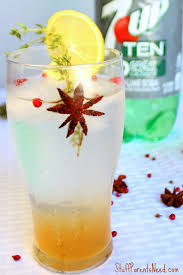 spiced drink with 7up ten a beverage