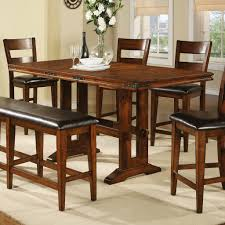 high table and chair set dining table with tall chairs coryc me