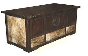 dark cowhide desk w star u0026 great western furniture company