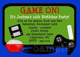 Children Birthday Invitation Card Video Game Birthday Invitation Printable Party Invite