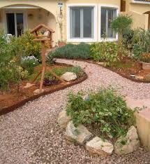 Modern Garden Path Ideas Cheap Wooden Tripod Bird Feeder Mied With Pebble Garden Path Ideas