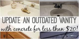 Cement Bathroom Vanity Top Remodelaholic Diy Concrete Vanity With Integral Sink