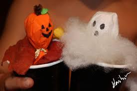 halloween arts u0026 crafts pumpkin and ghost pop up lollipop puppets