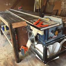 use circular saw as table saw how to build a woodworking workbench and tablesaw outfeed table