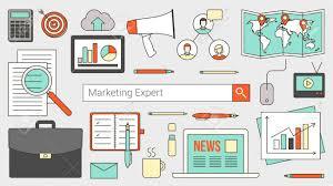 recherche ordinateur de bureau marketing et expert comptable bannière avec barre de recherche les