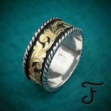 western style wedding rings cowboy wedding rings mens western rings fanning jewelry