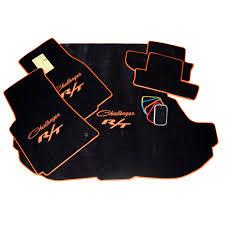 dodge challenger floor mats challenger r t hemi orange logo black floor mats