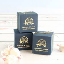 personalized wedding favor boxes personalized wedding favor box aisle society