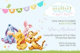 winnie the pooh baby shower invitations winnie the pooh themed baby shower invitation