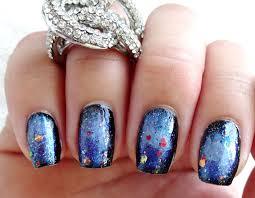 lacquered lawyer nail art blog mani upcycle galaxy