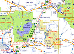 map of zion national park zion national park map of utah