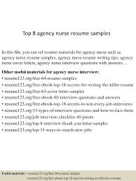 nurse resume example agency nurse resume job description template top8agencynurseresumesamples 150602134017 lva1 app6892 thumbnail 4 jpg cb
