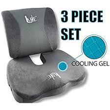 Seat Cushion For Desk Chair Amazon Com Set Cool Gel Memory Foam Seat Cushion With Rain Cover