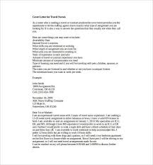 Example Nurse Cover Letter Free by Travel Nurse Cover Letter