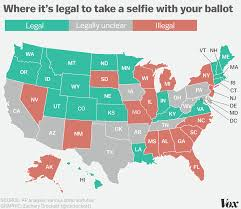 Gun Laws By State Map by Your Ballot Selfie Could Get You Arrested In These States Here U0027s
