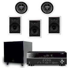 yamaha home theater system 5 1 in wall in ceiling speaker pack with yamaha rx v381 receiver